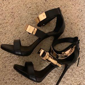 Giuseppe Zanotti Shoes - Giuseppe Zanotti Black Leather Heels